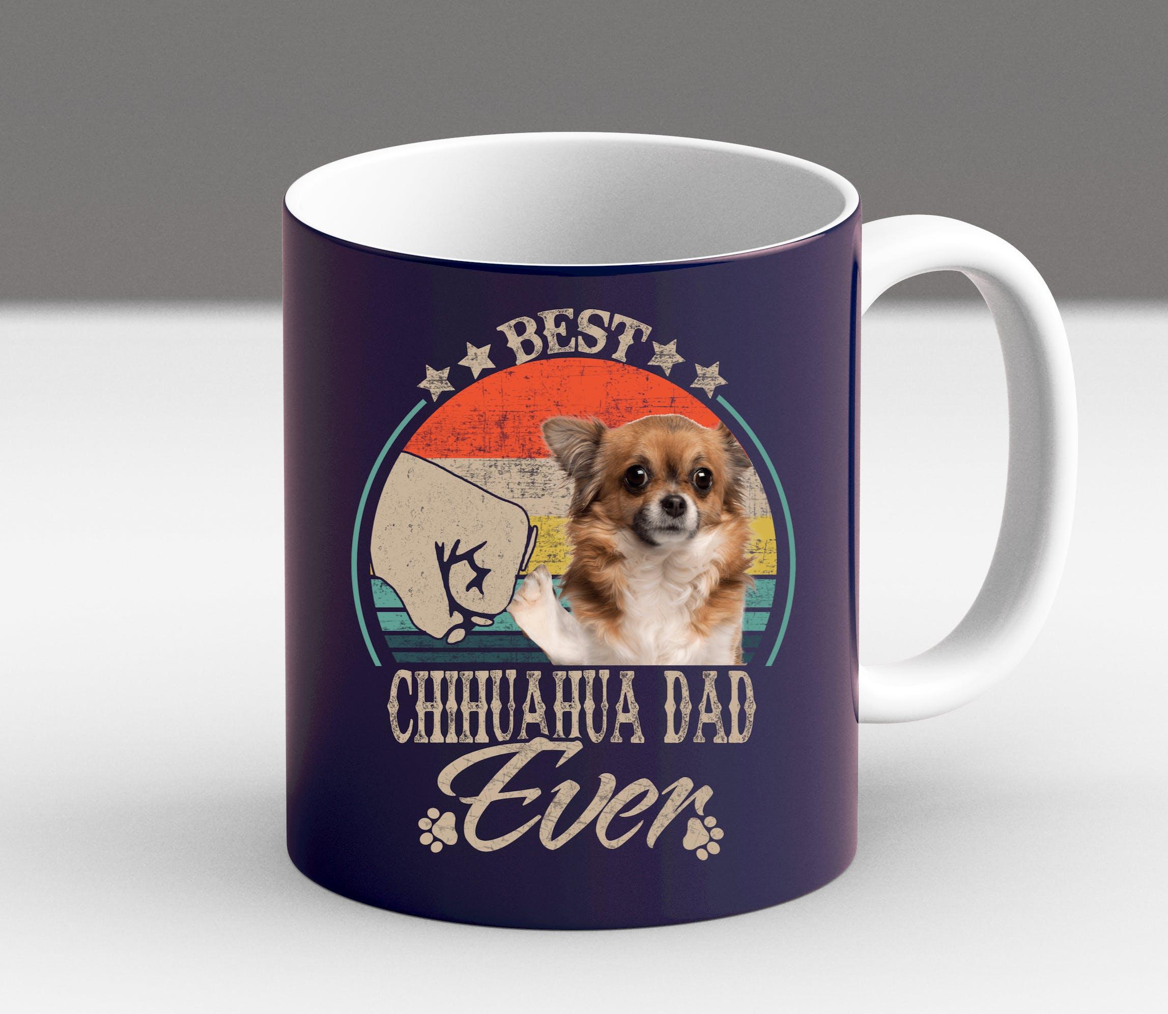 miniature 6 - Funny Chihuahua Owner Mom Dad Gift Christmas Fur Vintage Coffee Mug