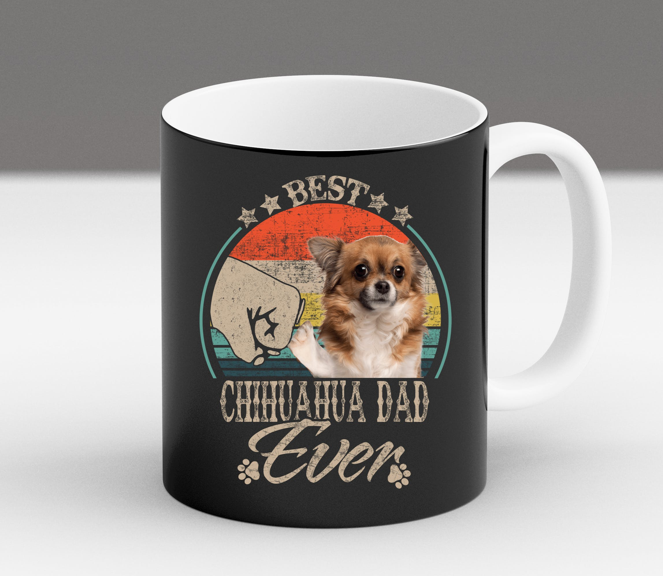 miniature 5 - Funny Chihuahua Owner Mom Dad Gift Christmas Fur Vintage Coffee Mug